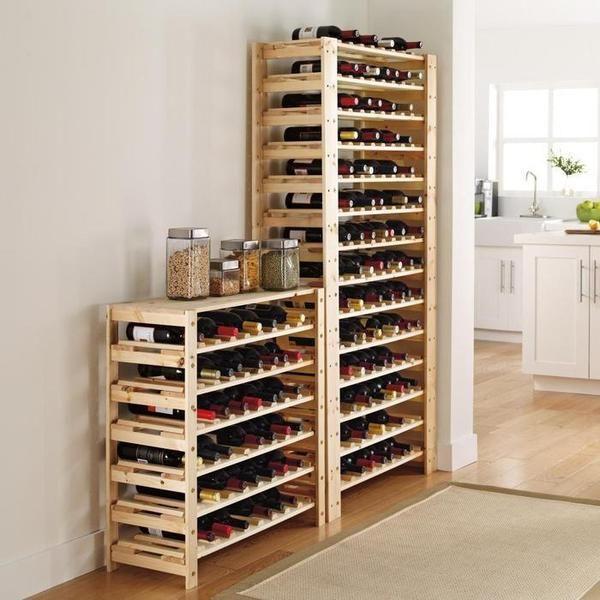Una cava minimalista para tus botellas de casillero del - Cavas de vinos para casa ...
