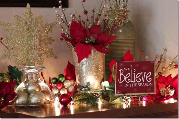 Christmas decorating centros de mesa navide o feliz for Decoracion christmas navidenos