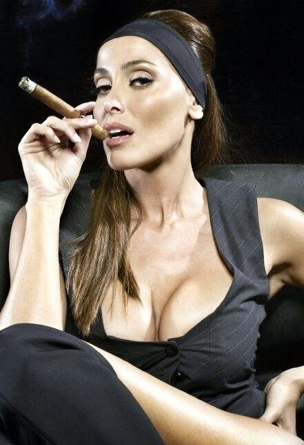 Pics of sexy girls smoking cigars