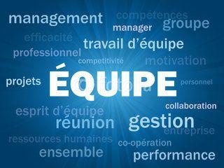 Nuage De Tags Equipe Travail Esprit D Equipe Management Succes