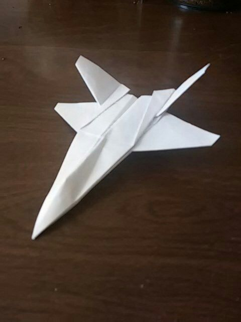 Paper airplane  Northrop YF-23 BLACK WIDOW  Considered to actuality
