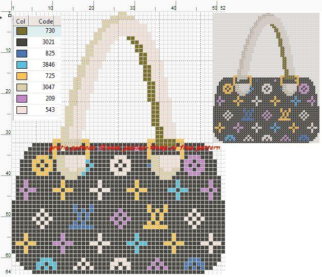 0 point de croix sac à mains - cross stitch bag