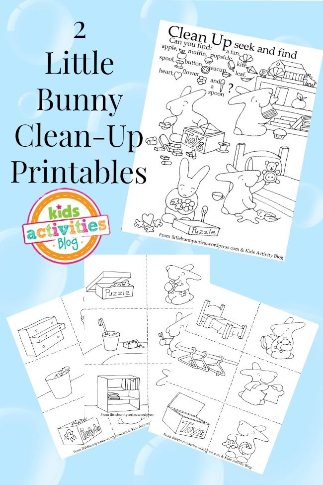 CLEAN-UP TIME} FREE KIDS PRINTABLES | Kid printables, Kid activities ...