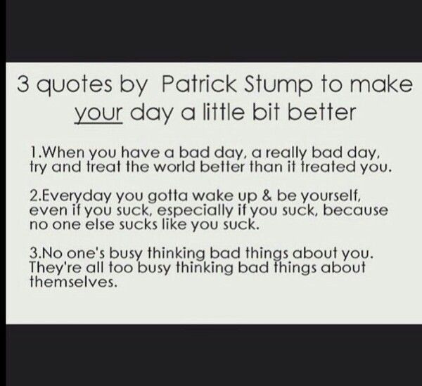 I feel better after reading these :D Thanks, Patrick ...