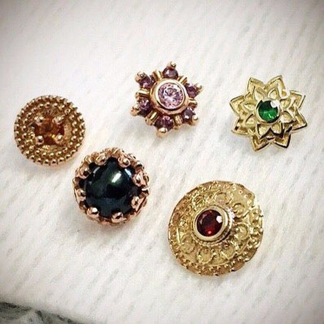 We're pretty sure our wonderful client Alan has the best collection of labret jewelry in town after picking up these 5 wonderful pieces from @bvla. Nicely done, Alan. Nicely done.