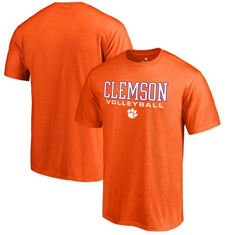 Clemson Tigers Fanatics Branded True Sport Volleyball Big Tall T Shirt Orange Clemson Tigers Broncos Denver Broncos