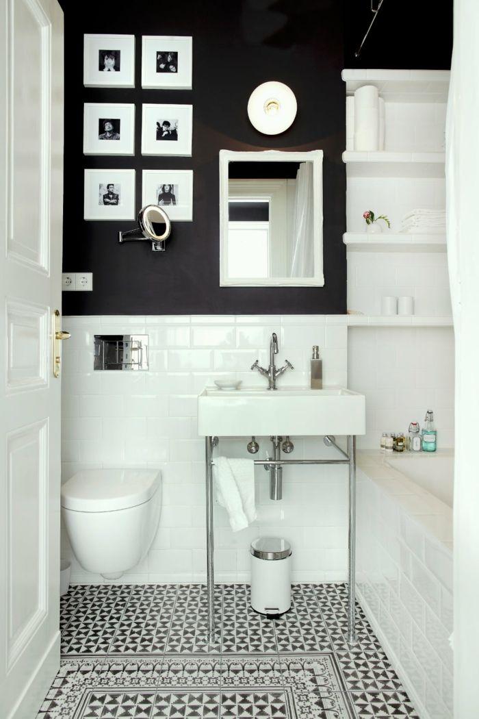 1001 ideas de cuadros para ba os modernos con estilo - Pegatinas decorativas para banos ...