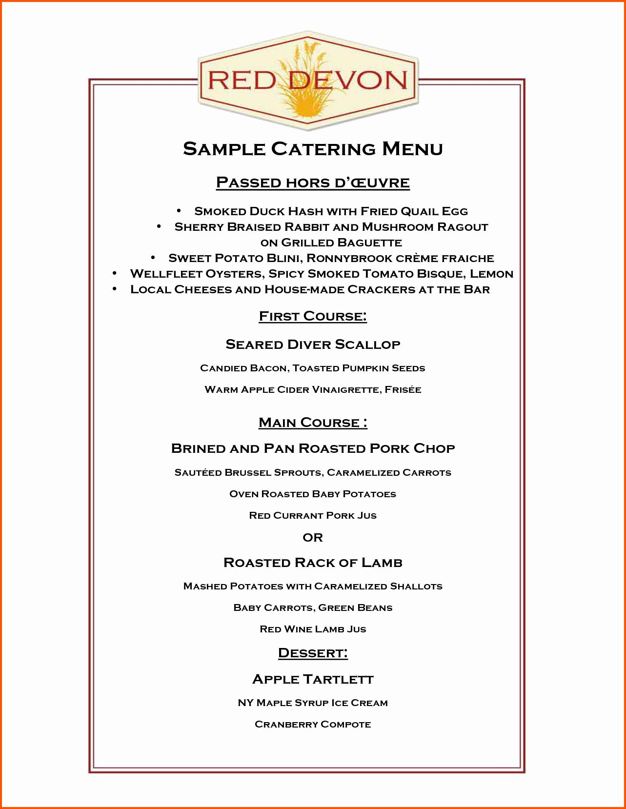 Catering Menu Template Free Lovely Catering Menu Template Free Portablegasgrillweber Menu Template Free Menu Design Template Menu Template Free catering menu templates download