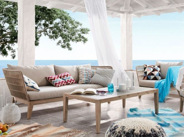 Un salon de jardin design - Elle Décoration | Salon design, Canapés ...