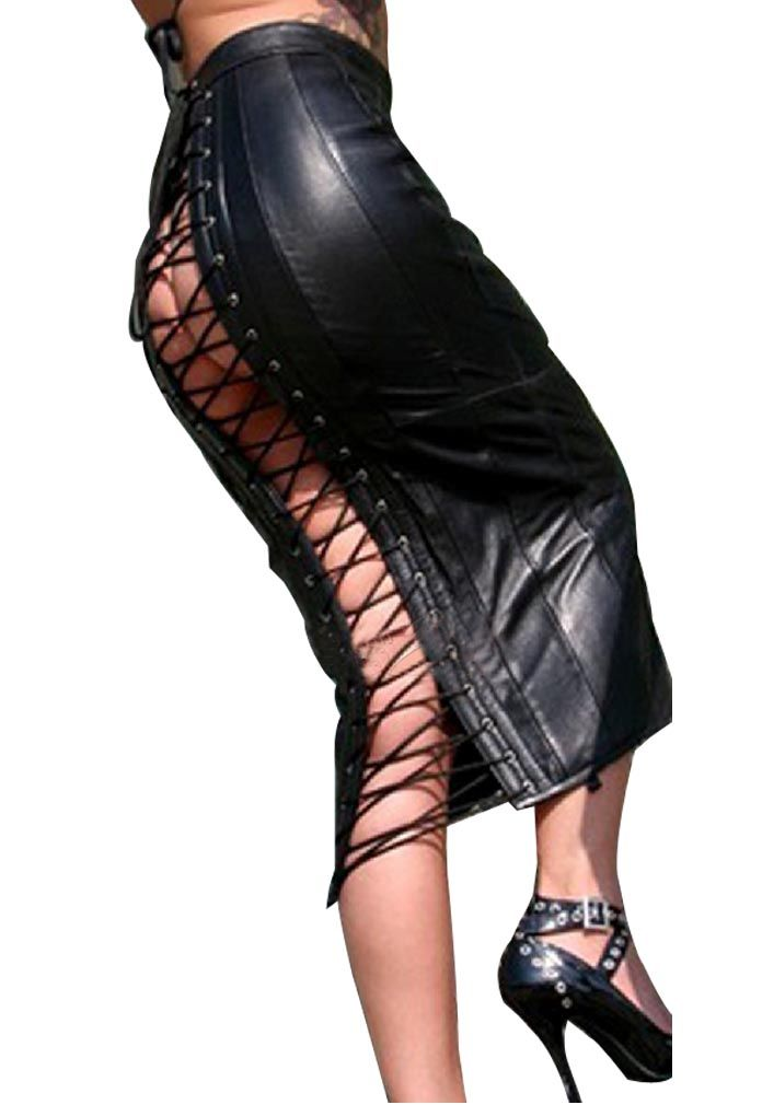 Leather lace up skirt – Modern skirts blog for you