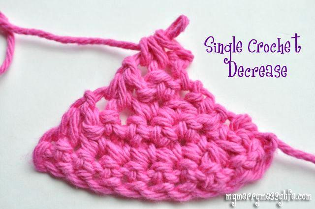Increasing And Decreasing In Crochet Free Crochet Tutorial Single