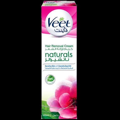 اكتشفي كريم ڤيت ناتشورالز لإزالة الشعر المعزز بخلاصة زيت بذرة الكاميليا جربيه الآن Veet Hair Removal Cream Cream