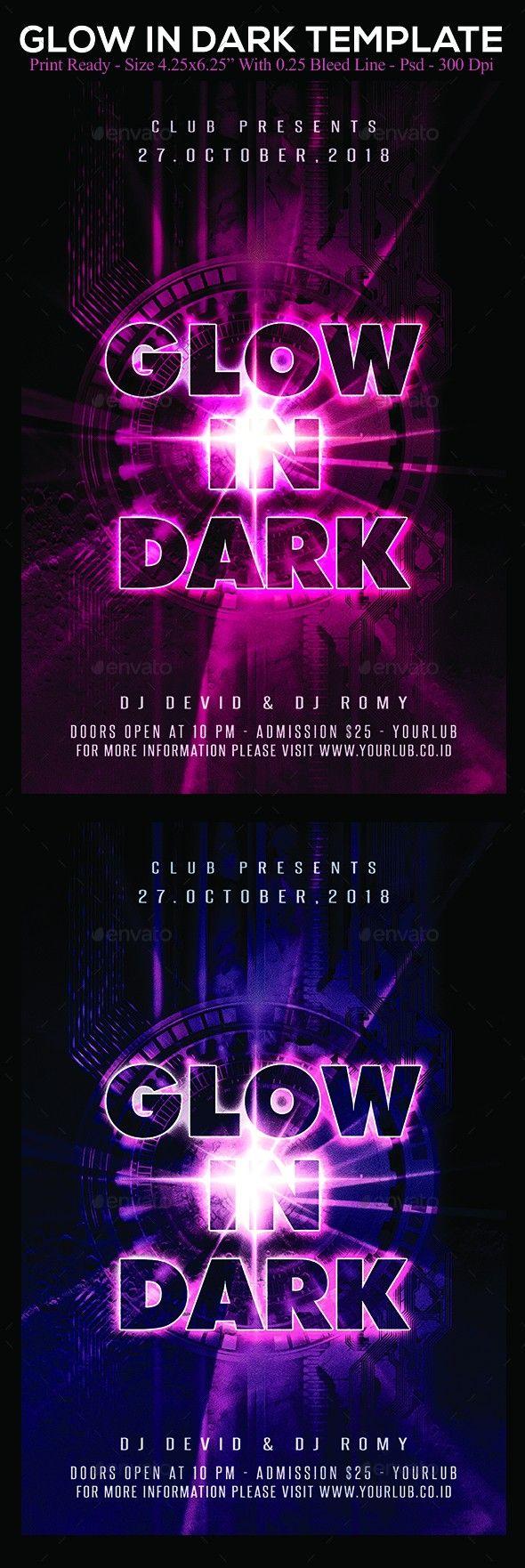 Artist Flyer Club Dance Design Disco Flyer Free Template Glow