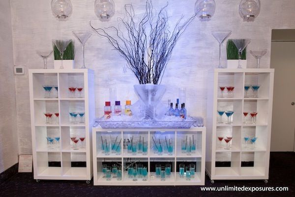 Nightclub Theme Bat Bar Mitzvah Party Ideas Blue Martini Tail Mocktail Exquisite Caterers