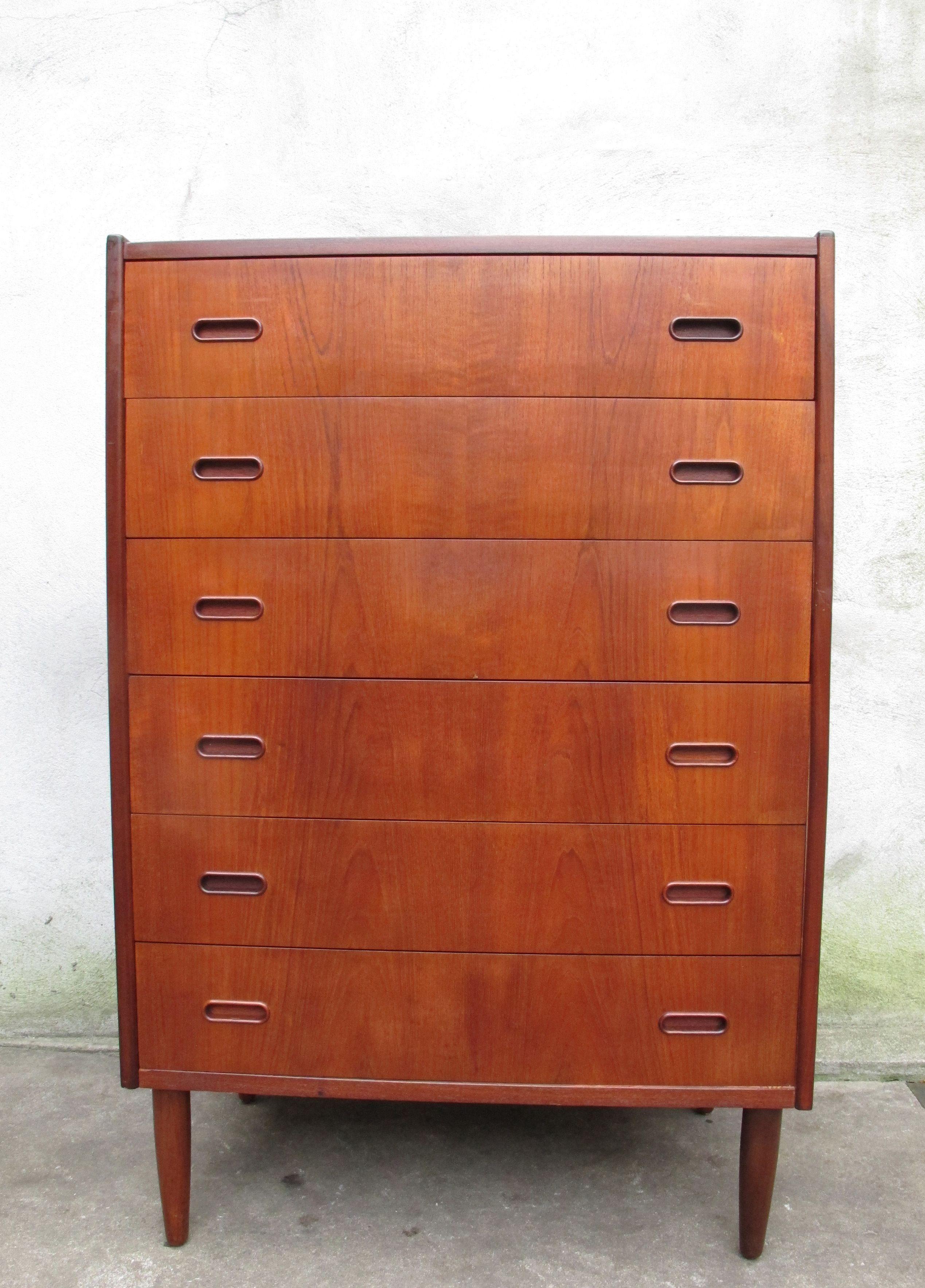 DANISH MODERN TEAK TALL DRESSER   Modern vintage furniture ...