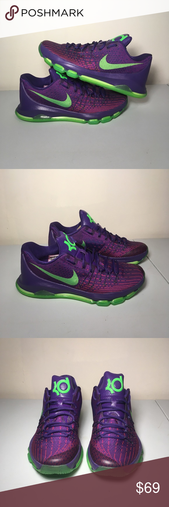 separation shoes 51bd4 96953 New Nike KD 8 VIII Men s Size 10.5 Nike KD 8 Suit VIII Purple Green Kevin