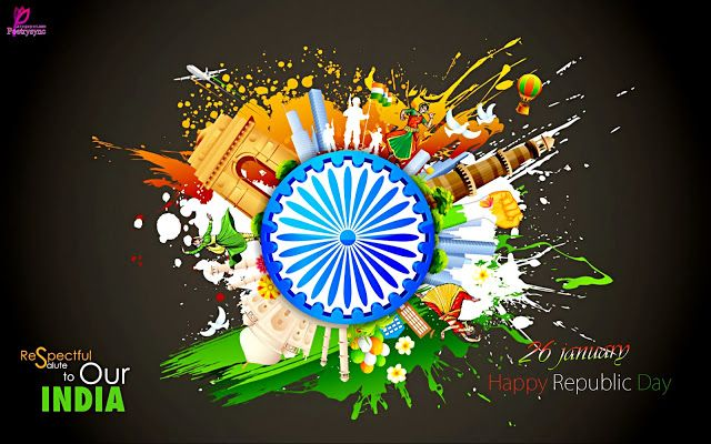 Happy 26 January Republic Day Wallpapers with Greetings