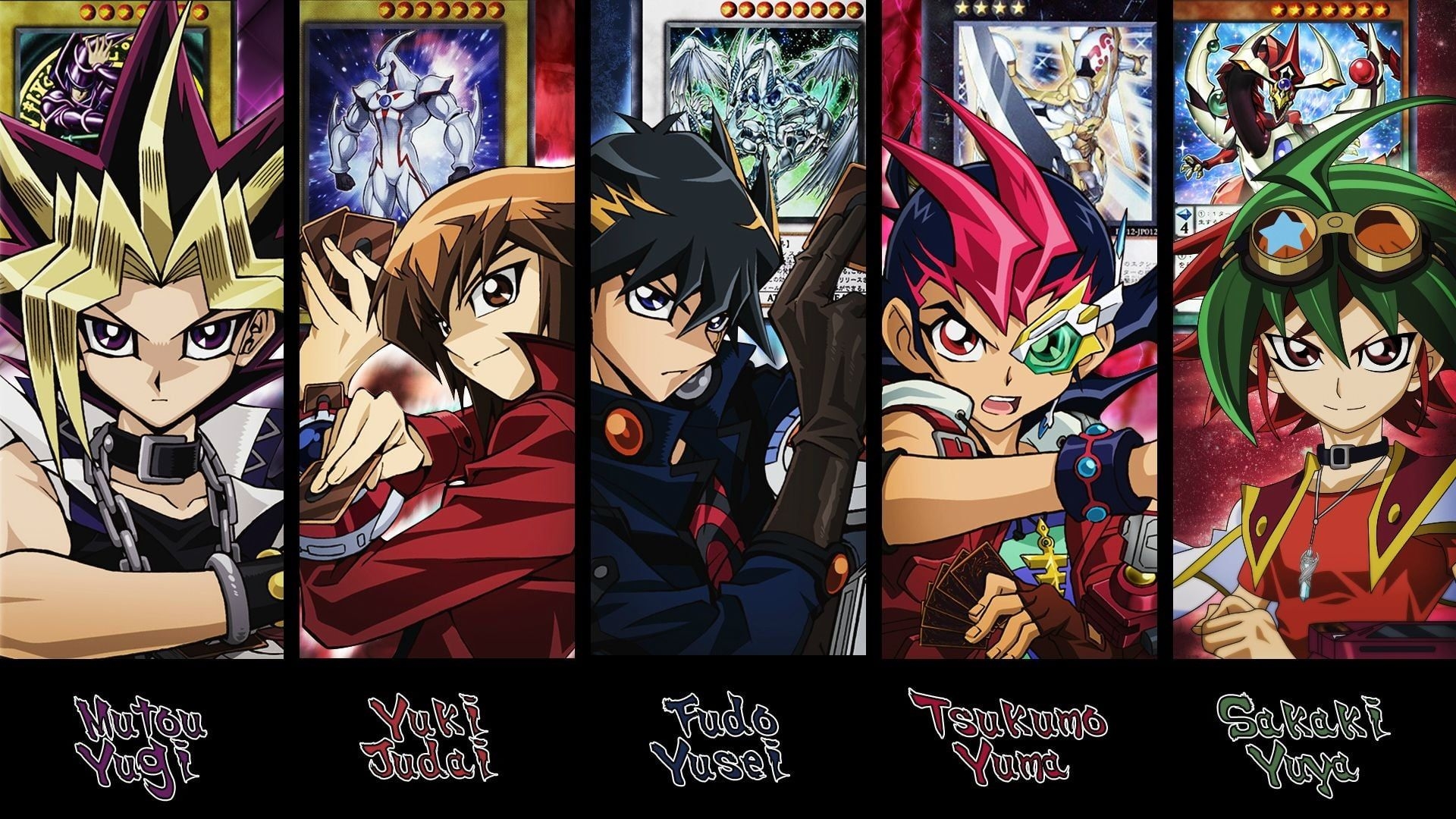 Yu Gi Oh Character Collage Yugioh Duelyst Anime Protagonist