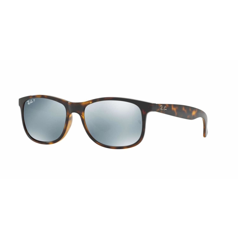 4c1a2a416b Ray Ban Mens RB4202 Andy 710 Y4 Havana Plastic Rectangle Sunglasses (Shiny  Havana)