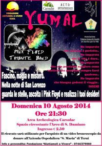 Carsulae: Yumal, Pink Floyd tribute band in concerto
