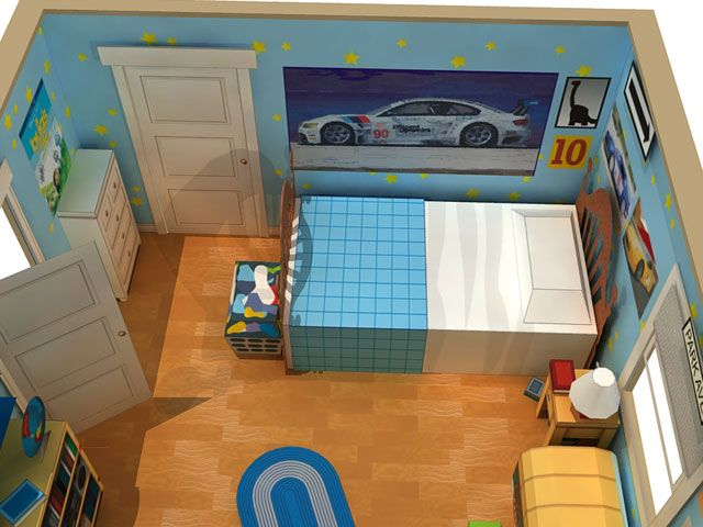 Andy's Room Diorama - Toy Story 3 Papercraft