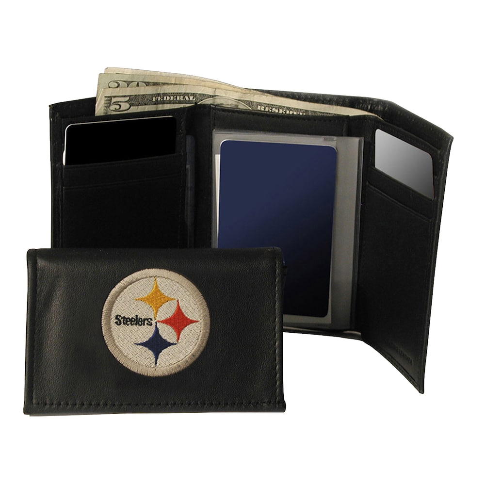 96e3a6899aa0 Pittsburgh Steelers Trifold Wallet, Black in 2019 | Products ...
