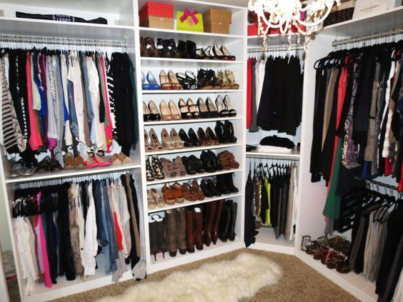 Simple Small Walk In Closet Ideas : Interior Furniture Marvelous White Ikea  Walk In Closet With