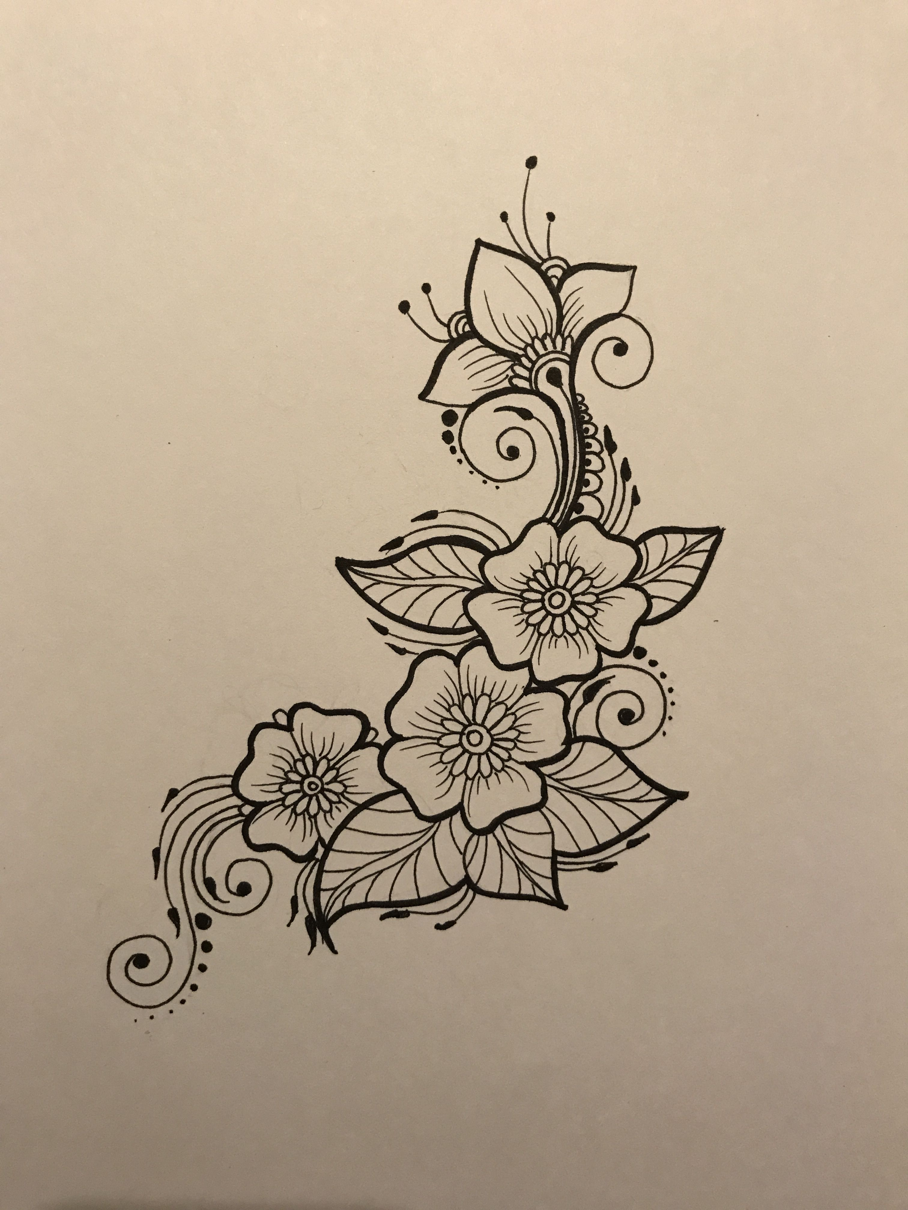 Flowers So Perfect To Draw Henna Tattoo Designs Henna