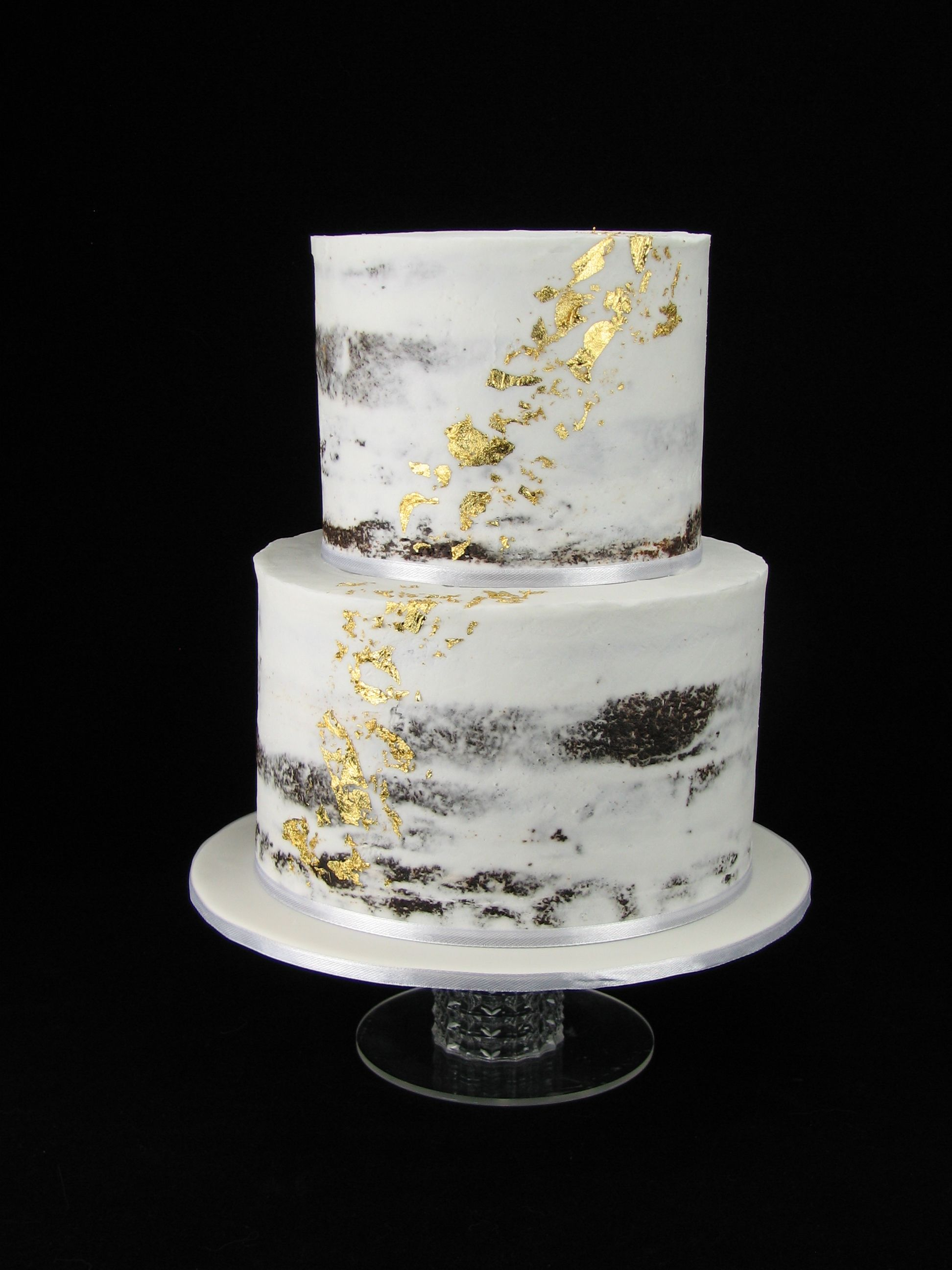 Semi-naked chocolate mud cake with buttercream and a splash of real ...