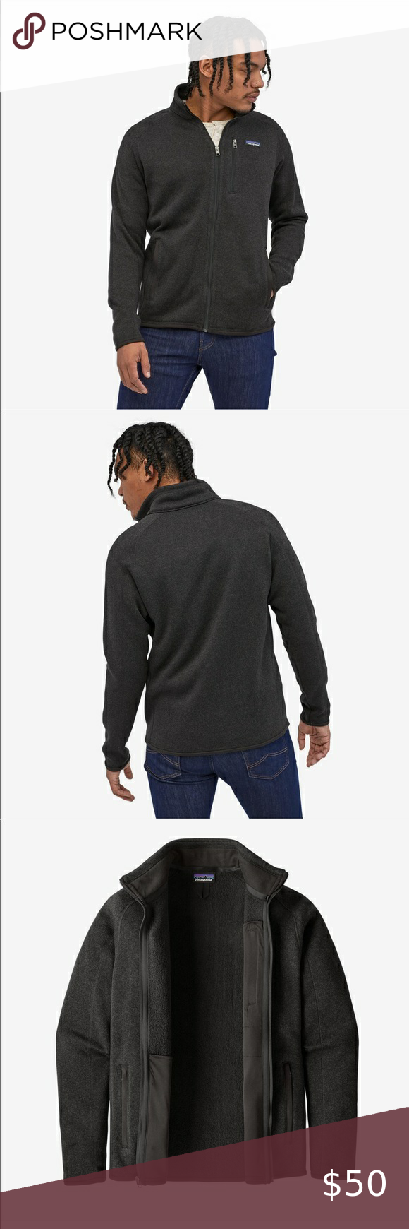 Patagonia Men's Better Sweater Fleece Jacket Black in 2020