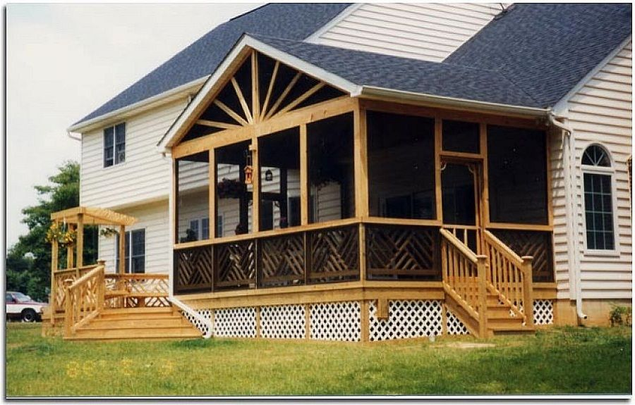 Screened porches designs screened in porch design ideas for Screen room addition plans
