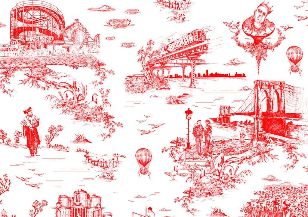 Brooklyn Toile Wallpaper By Flavor Paper For The Home