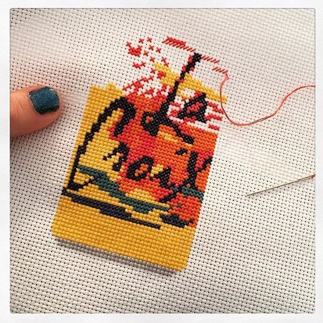470775b9 Ever thought of cross stitching your favorite LaCroix flavor? (📷  @_edward_pizza_hands )