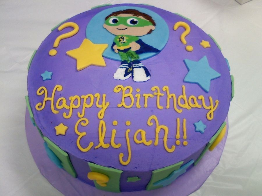 Magnificent Super Why Cake Super Why Cake Super Why Birthday Super Why Personalised Birthday Cards Paralily Jamesorg