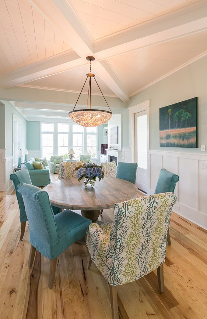 Coralberry Cottage Dining Rooms Coastal Living Rooms