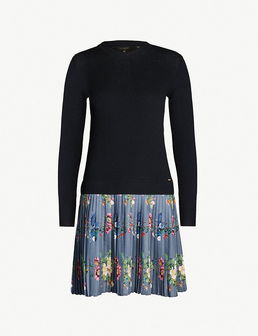 9ad17c06d819c TED BAKER Izitaa oracle-print knitted dress in 2019 | Winter wonders ...