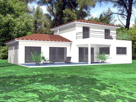 une maison contemporaine en provence plan et fa ade pinterest et. Black Bedroom Furniture Sets. Home Design Ideas