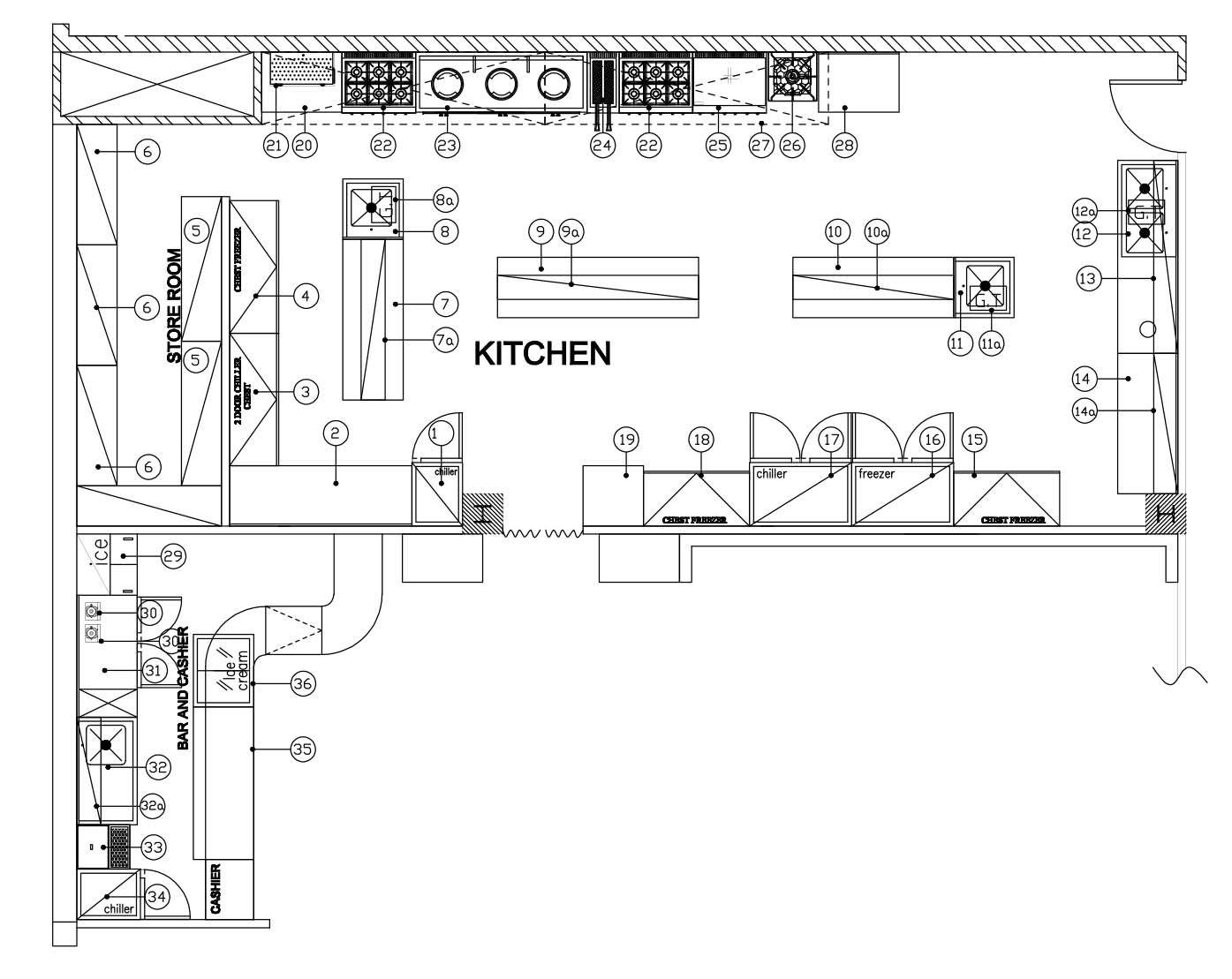 Pizza Kitchen Design Layout Cocina Industrial Planos De Cocinas Imagenes De Cocina