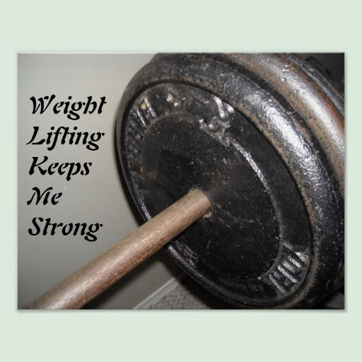 Weight Lifting Motivational Message Poster | Zazzle com