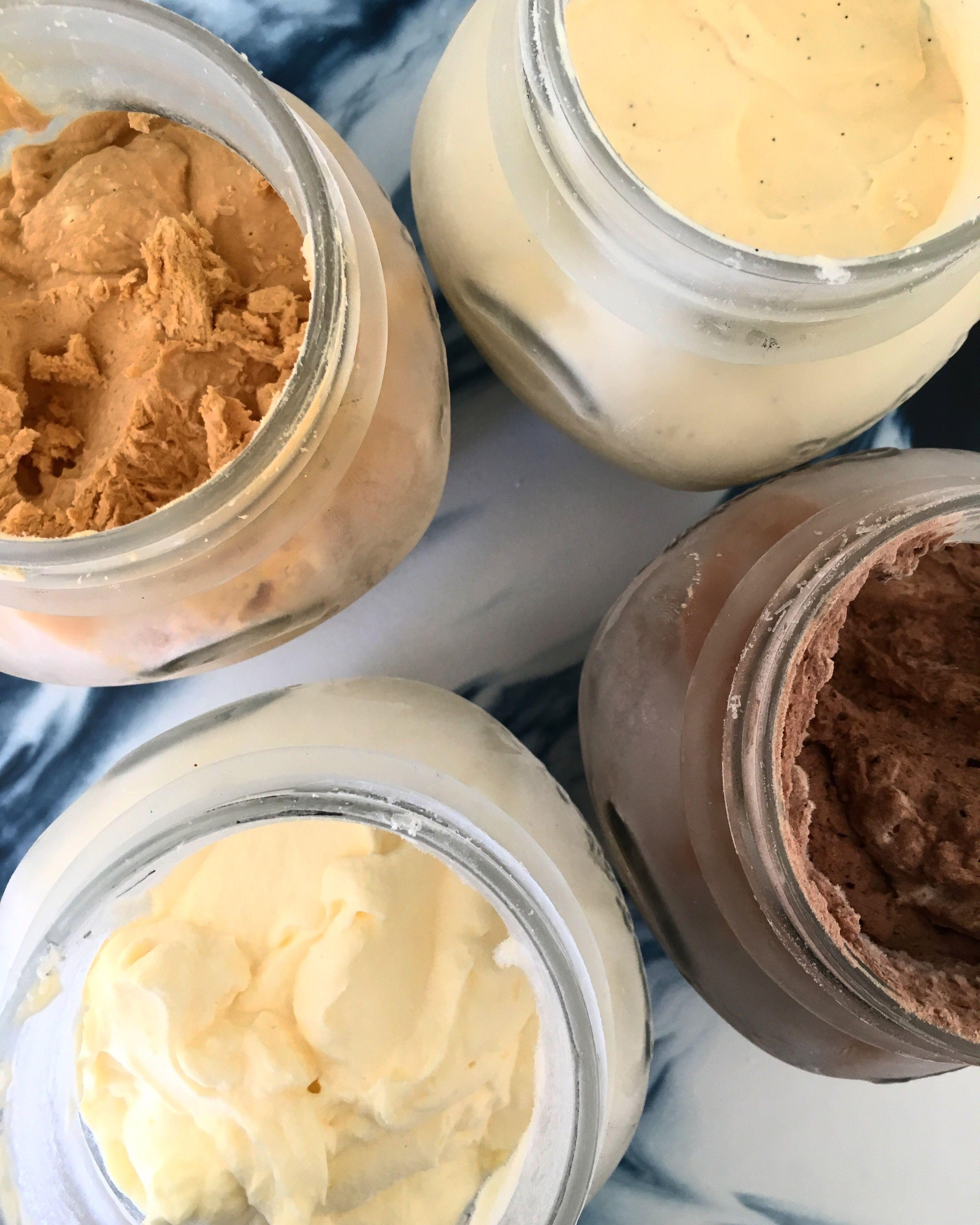 Mason Jar Ice Cream! #ketoicecream