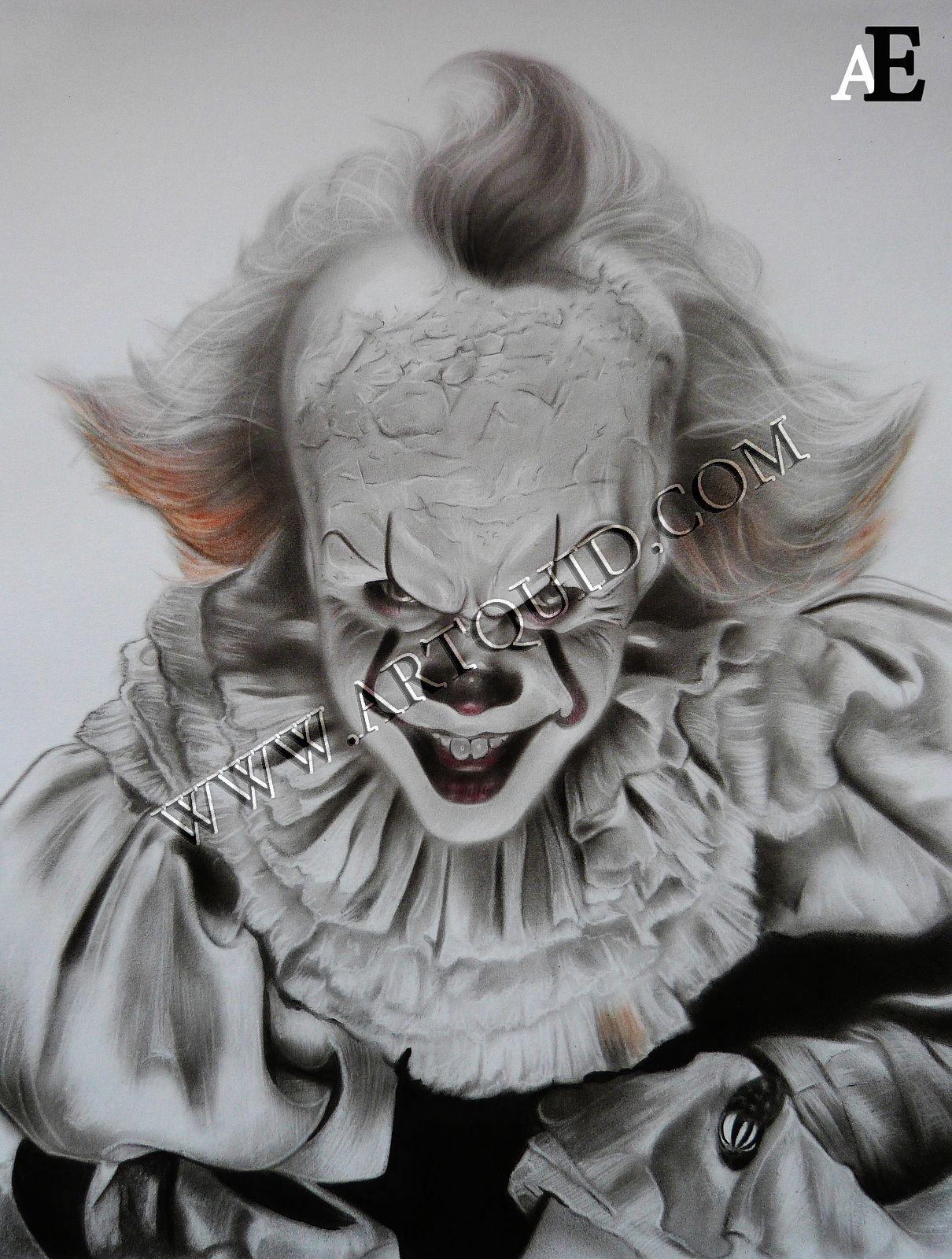peinture du clown a le film huile 30 x 40 cm 190 aurelie emond artiste. Black Bedroom Furniture Sets. Home Design Ideas