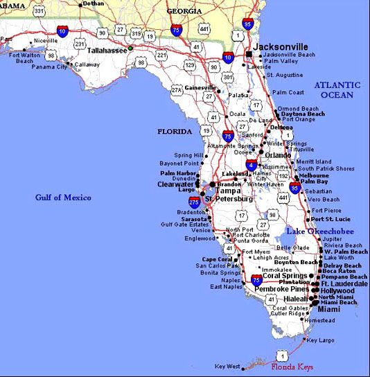 florida map of highways