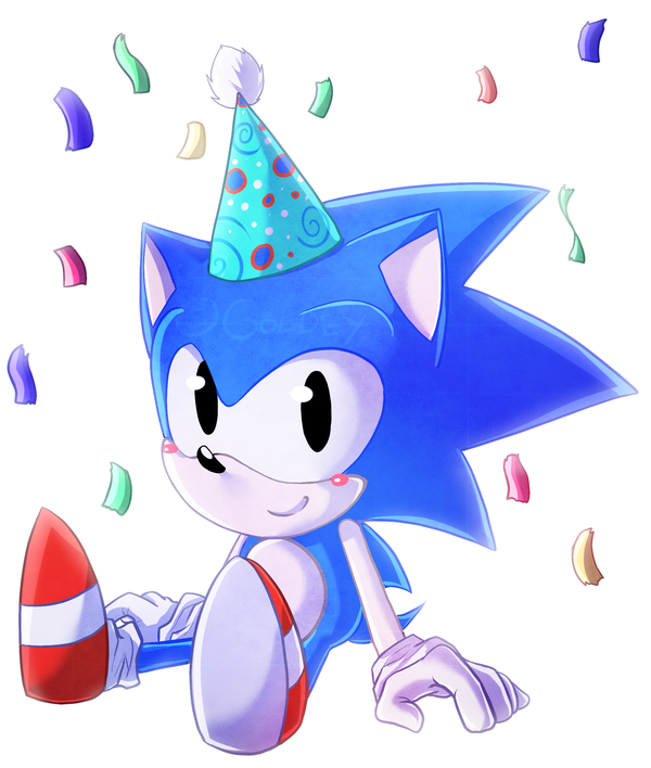Happy Birthday Sonic By Goldentigerdragon On Deviantart Sonic Sonic Birthday Sonic The Hedgehog
