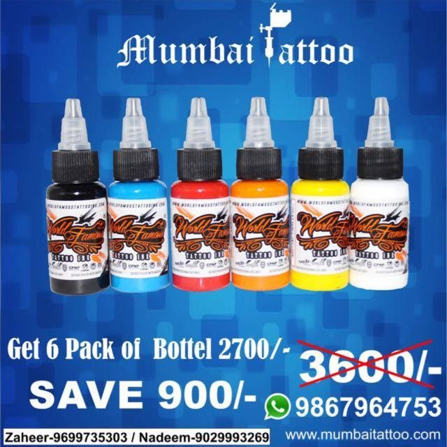 World Famous Tattoo Ink Made In Usa Now In India At Mumbai Tattoo Mumbai India For More Detail Call 90 World Famous Tattoo Ink Tattoo Supplies Famous Tattoos