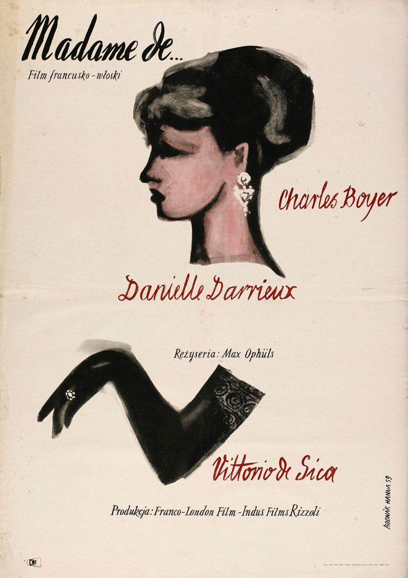 1959 Polish Poster For The Earrings Of Madame De… (max Ophüls, France