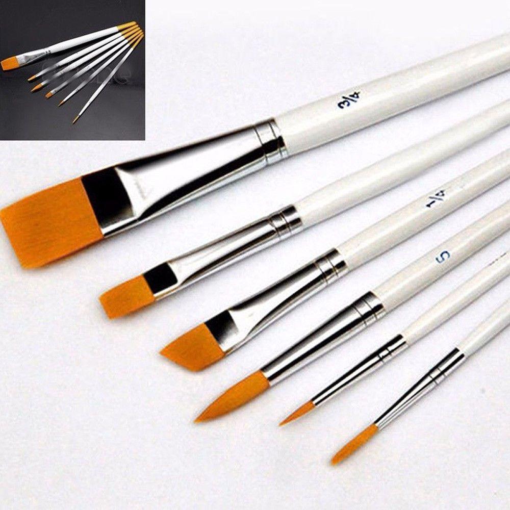 6pcs Artist Paint Brushes Set Acrylic Oil Watercolour Painting
