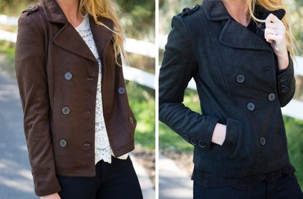 The Abigail Pea Coat  50% off at Groopdealz