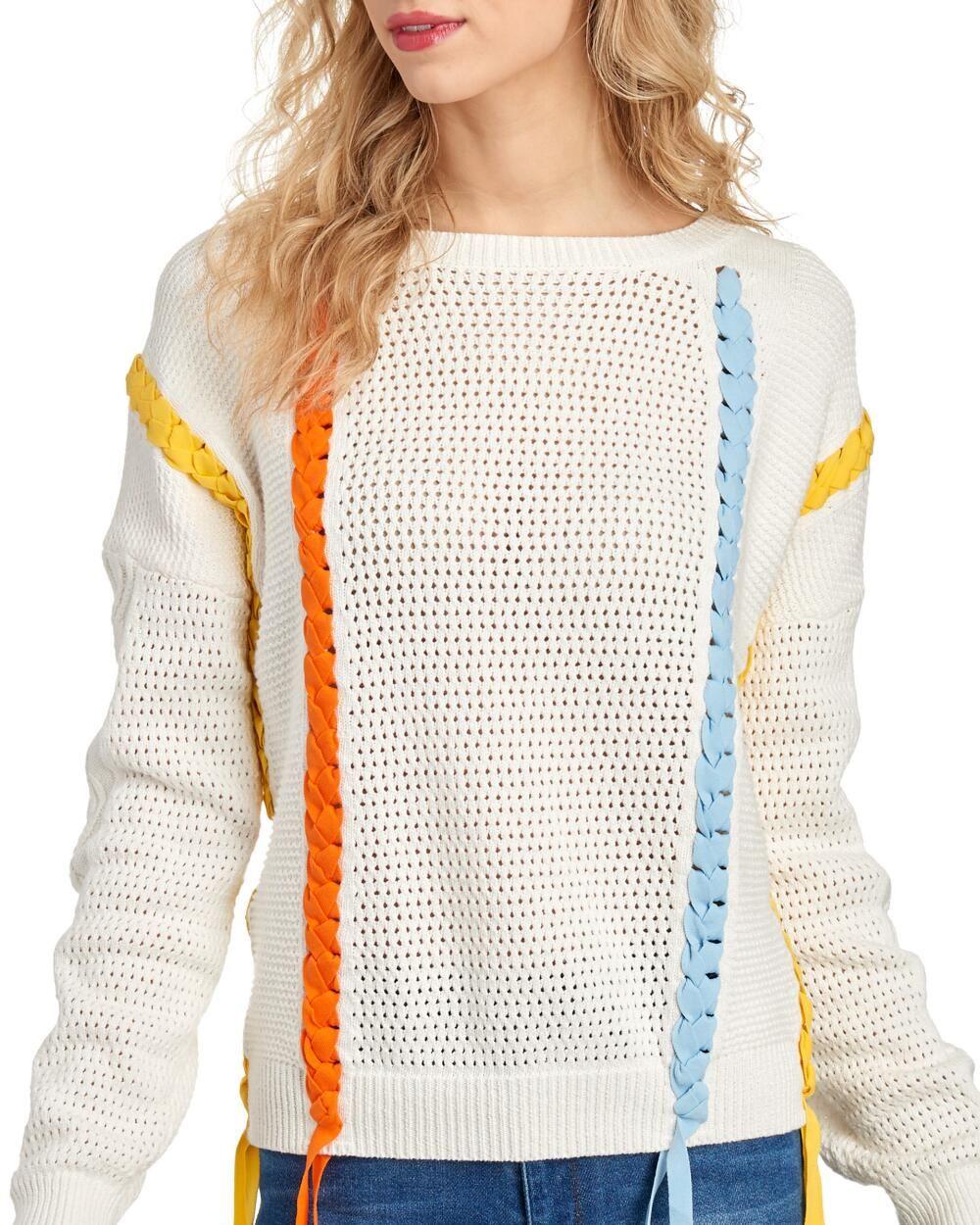 Women/'s Ribbon Knit Crochet Effect Sleeveless Vest Jumper Top