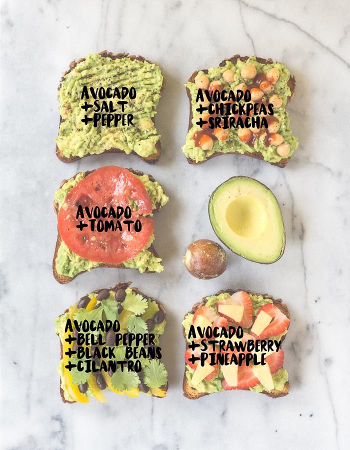 Avocado Toast: 5 Ways (Vegan + GF)