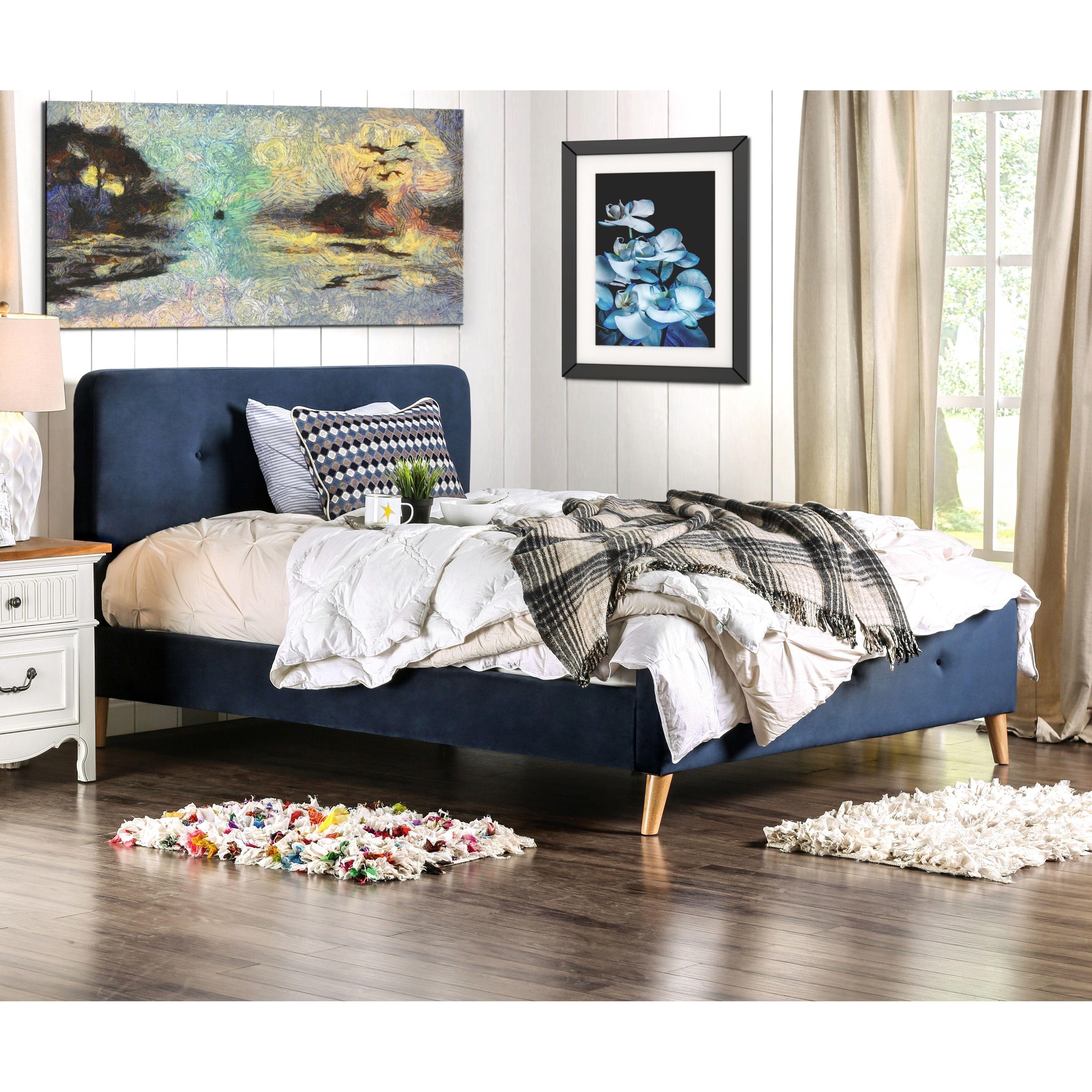 Best Furniture Of America Celene Mid Century Modern Tufted Full 400 x 300